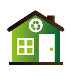 Home ecology green icon vector