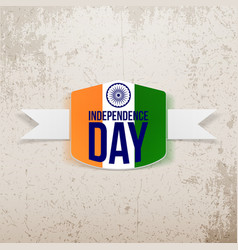 Indian Independence Day Tag with Shadow vector