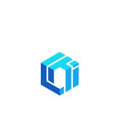 Initials logo c t i icon logo design template vector