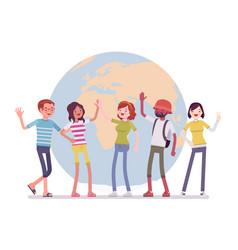 international friendship team vector image