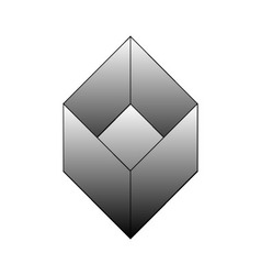 Isometric object- architectural logo vector image