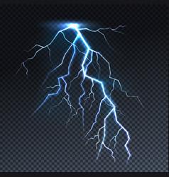 lightning realistic thunderbolt light vector image