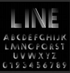 line design font template vector image