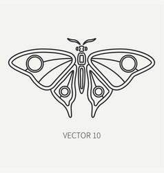 line flat plain wildlife fauna icon bug vector image