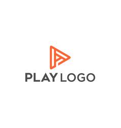 line p play logo vector image