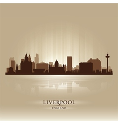 Liverpool England skyline city silhouette vector image