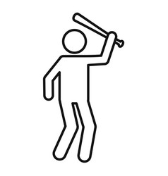 Man prevent violence icon outline style vector