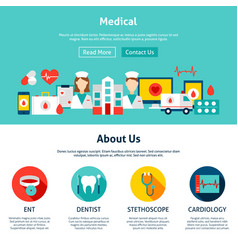 medical website design vector image