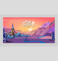 merry christmas and happy new year 2020 christmas vector image