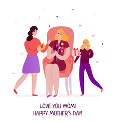 mothers day flat vector image