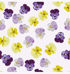 multicolor anemone flowers seamless pattern vector image