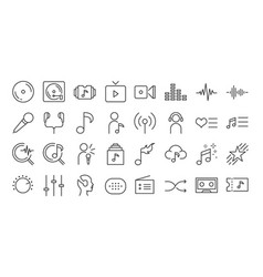 music app icon set vector image