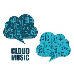 music cloud vector image