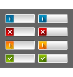 Notification icons and buttons vector