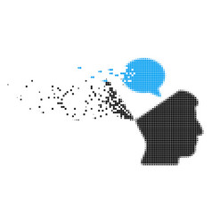 Open mind opinion fragmented pixel icon vector