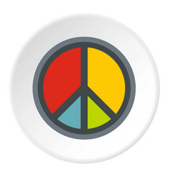 Peace symbol icon circle vector