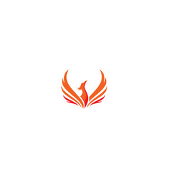 phoenix bird logo icon vector image