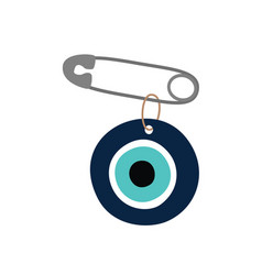 Pin from evil eye amulet vector