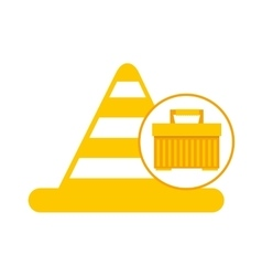 Plastic tool box cone icon vector