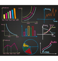 Profit Charts set vector