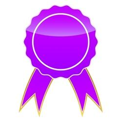 Purple medal vector image
