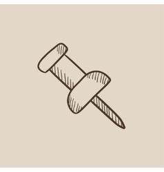 Pushpin sketch icon vector image