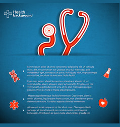 Science and medicine background vector