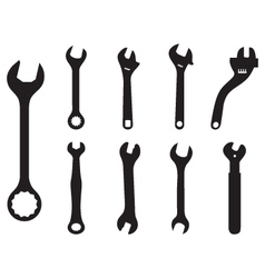 Screw wrench vector