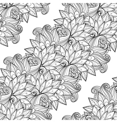 Seamless Contour Floral Pattern vector