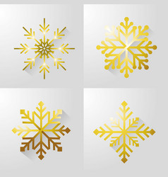 Set merry christamas snow design vector