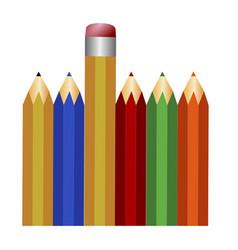 Set of pencils vector