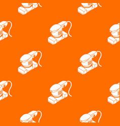 Sheet sander pattern orange vector