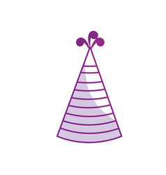 Silhouette hat party to cebrate happy birthday vector
