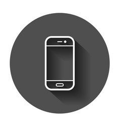 smartphone icon in flat style phone handset with vector image