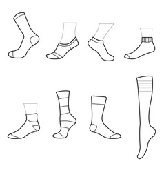 sock clipart sock drawing sock icon symbol vector image