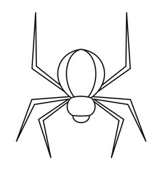 Spider insect icon outline style vector