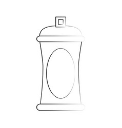 spray paint bottle vector image