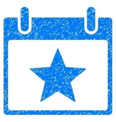 Star Calendar Day Grainy Texture Icon vector