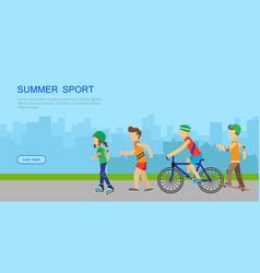 summer sport banner vector image