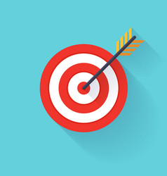Target bullseye or arrow on flat icon flat vector