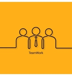 teamwork business concept design background vector image