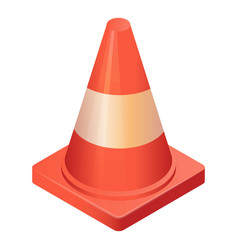 traffic cone icon isometric style vector image