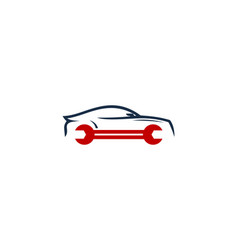 Vehicle fix and repair logo icon design vector
