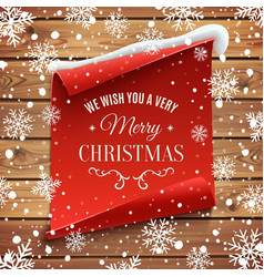 We wish you a very Merry Christmas background vector