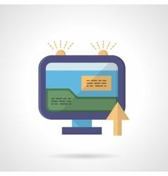 Web marketing flat color icon vector