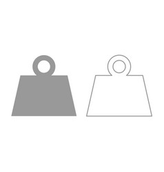 Weight icon grey set vector