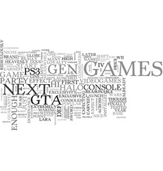 who will win the hi def games war text word cloud vector image
