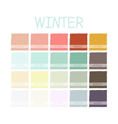 Winter Color Tone with Code vector image