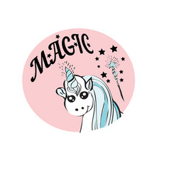 with cute cartoon unicorn vector image