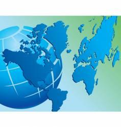 World map globe vector